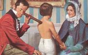 Dr Laennec using the early stethoscope