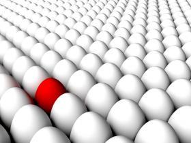 detection concept - bad egg