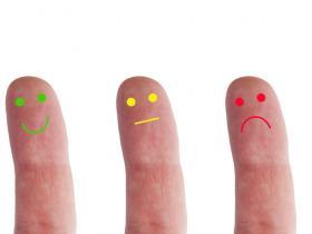 emotions finger concept