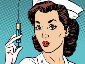 retro nurse vaccination