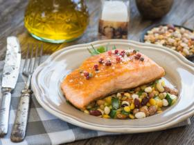 salmon and legumes