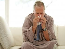 Older man with flu