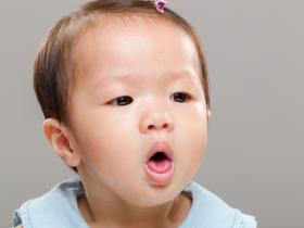 Infant girl coughing
