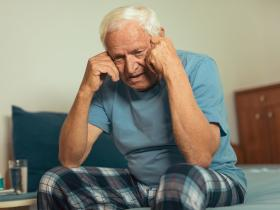 older man with depression