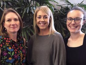 Dr Catherine Orr, Lauren Coelli and Dr Amanda Cohn