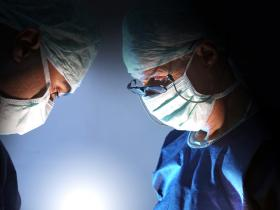 Surgeons in masks