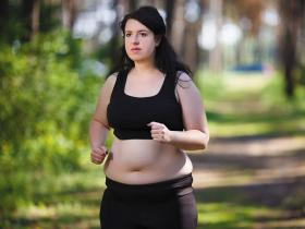 Young obese woman