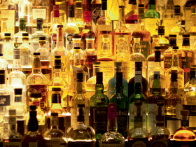 a selection of alcohol