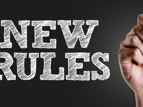 sign saying 'new rules'