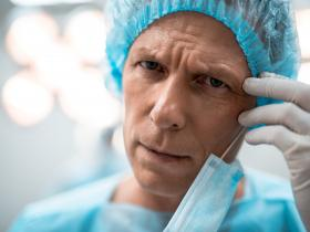 Tired surgeon