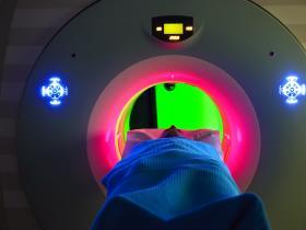 Person having an MRI scan