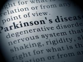 Newsprint with Parkinson's disease highlighted