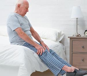 elderly stretching