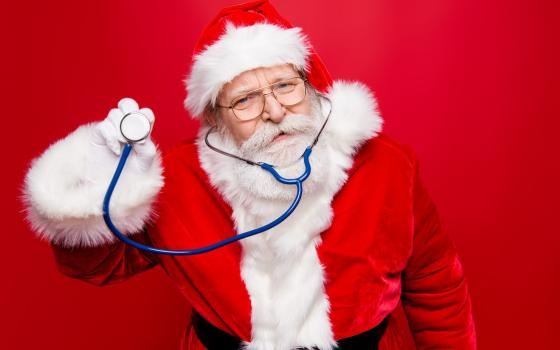 Santa with stethoscope