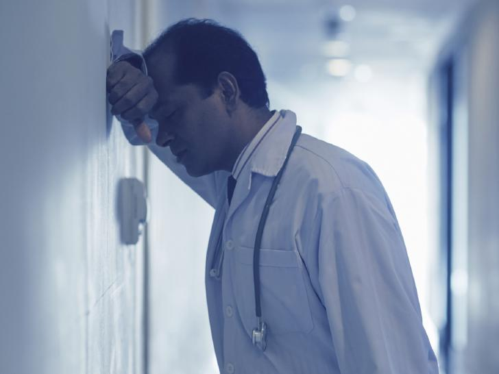 doctor with depression