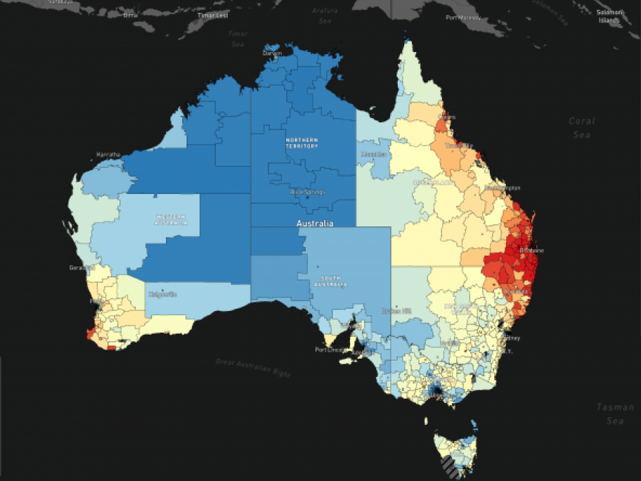 What Does Australia Look Like On A Map.New Tool Reveals Cancer Risk By Suburb Australian Doctor Group