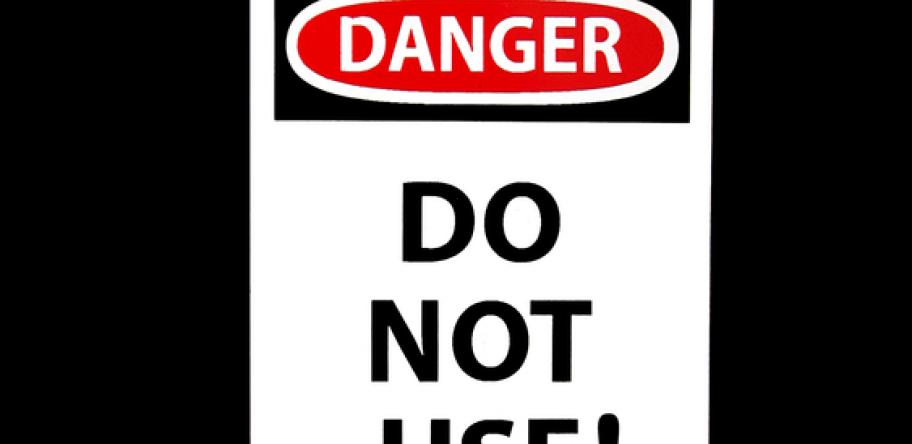 do not use sign