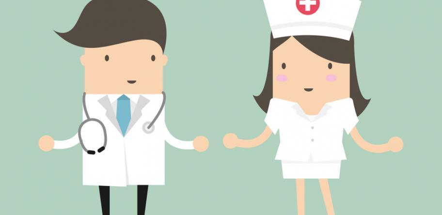 doctor and nurse illustration