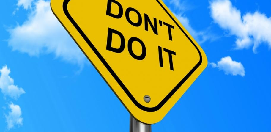 don't do it sign