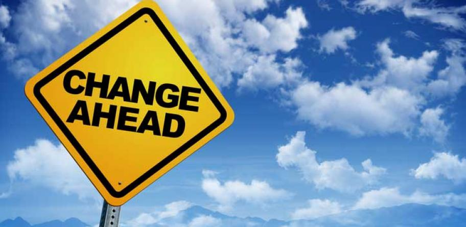 sign saying changes ahead